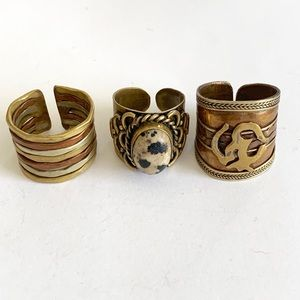 Jewelry - Set of 3 brass Rings